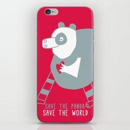cuore di panda iPhone Skin
