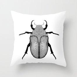 Scarab Beetle Print Throw Pillow