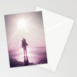 Sunlight Silhouette in Violet -  Holga photograph taken on the Oregon Coast Stationery Cards