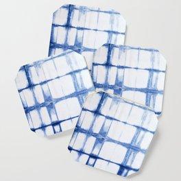 Shibori Blue - Rectangles Coaster