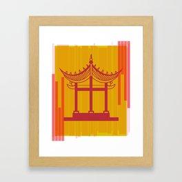Toyko Inspired Throw Pillow Framed Art Print