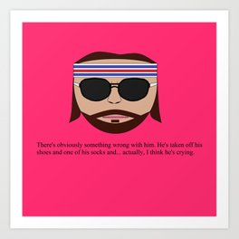"Richie ""The Baumer"" Tenenbaum Art Print"