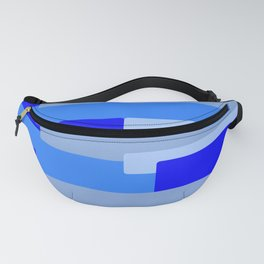 Blue Abstract Pattern Fanny Pack