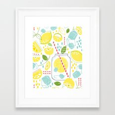 Summer Sippin' Framed Art Print