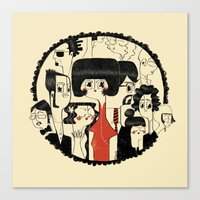 it crowd Canvas Prints featuring Crowd by Pigologist