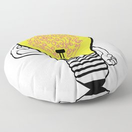 Smarty Tee For Smart Out There With Illustration Of A Bulb Thinking T-shirt Design Genius Ideas Floor Pillow