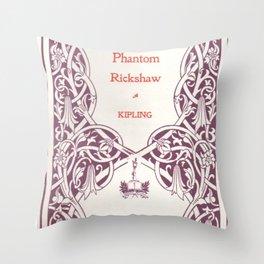 Antique Book * Literacy Art for Book Lovers * Rudyard Kipling  purple white #antiquebooks Throw Pillow