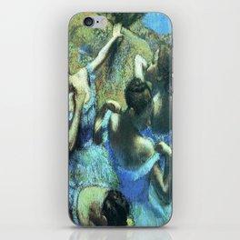 Blue Dancers by Edgar Degas iPhone Skin