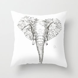 ELEPHANT ll Throw Pillow