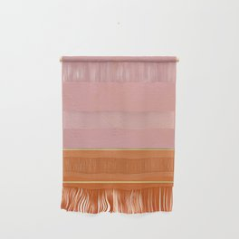 Orange, Pink And Gold Abstract Painting Wall Hanging