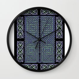 Periwinkle Knot Wall Clock
