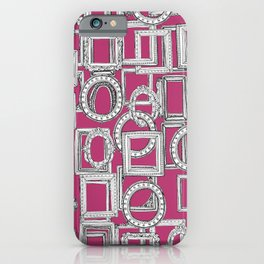 picture frames aplenty fuchsia pink iPhone Case