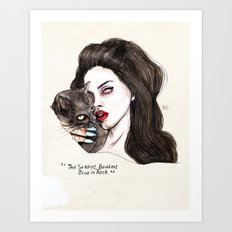 "Lana ""The saddest,baddest diva in Rock"" Art Print"