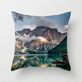 Italy mountains lake Throw Pillow