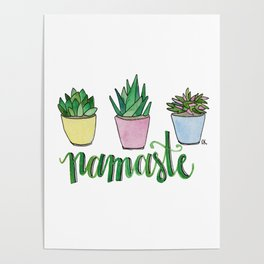 Namaste Succulents by Eileen Graphics Poster