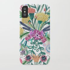 Flower burst, Illustration, print, art, pattern, floral, flowers, colour, painting, design, iPhone X Slim Case