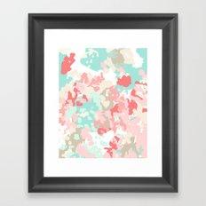 Branch - abstract minimal modern art office home decor dorm gender neutral bright happy painting Framed Art Print