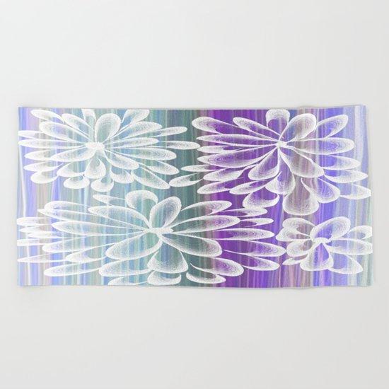 Fancy Floral Beach Towel