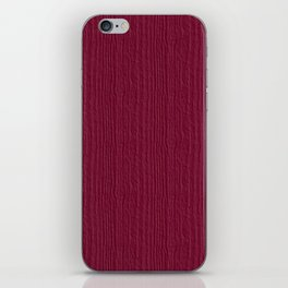 Anemone Wood Grain Color Accent iPhone Skin