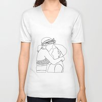 notebook V-neck T-shirts featuring Notebook Doodle by Bethany Mallick
