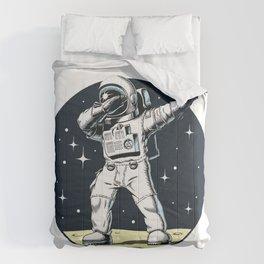 Dabbing Astronaut Funny Space Dance Comforters