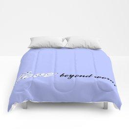 Love Beyond Words (Light Blue) Comforters