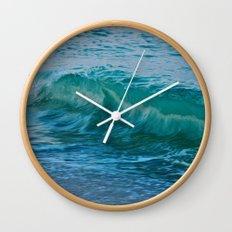 Crashing Wave at Dusk Wall Clock