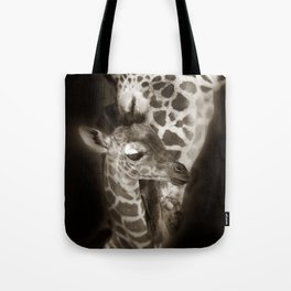 Baby Giraffe and Mother Tote Bag