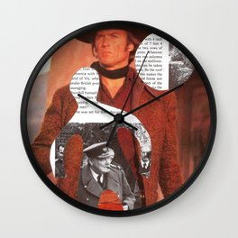 Media Landscape Walkers 4 Wall Clock