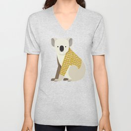 Whimsical Koala Unisex V-Neck