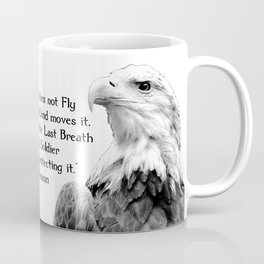 Eagle with Patriotic Quote Coffee Mug