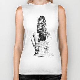 Lady and the Gift. Biker Tank