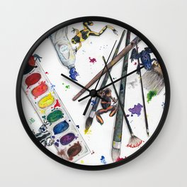 Dart Frogs Wall Clock