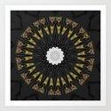 Dark Black Gold & White Marble Mandala by artaddiction45