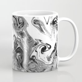 Suminagashi 1 black and white marble spilled ink ocean swirl watercolor painting Coffee Mug
