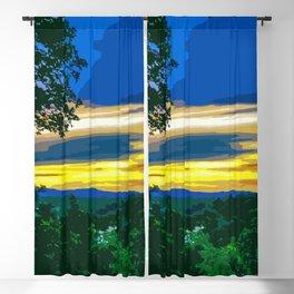 Sunset Over the Ouachita Mountains Blackout Curtain