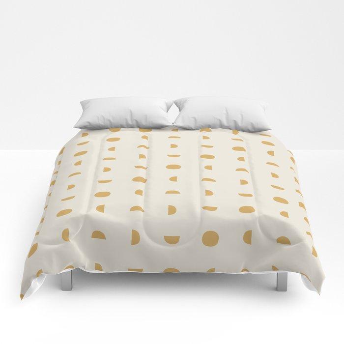 Desert Moon in Gold and Cream Comforters