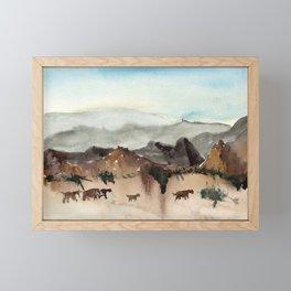 Prehistoric animals Framed Mini Art Print