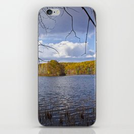 Hall Lake by Yankee Springs in Autumn iPhone Skin