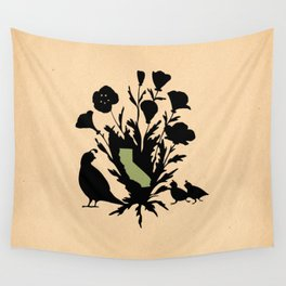 California - State Papercut Print Wall Tapestry