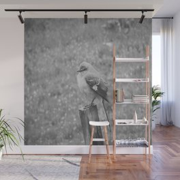 The Bird Black and White Wall Mural