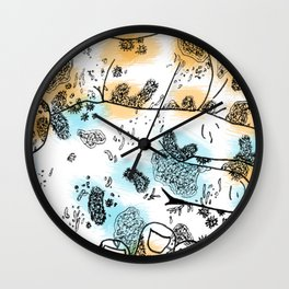 Microscopic Handshake Wall Clock