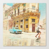 rio Canvas Prints featuring RIO by Nechifor Ionut