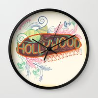 decorative Wall Clocks featuring Decorative Typographic by famenxt