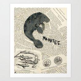 Manatee Art Print