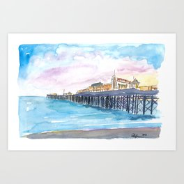 Brighton Pier at Sunrise Art Print