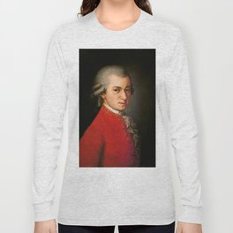 Wolfgang Amadeus Mozart (1756 -1791) by Barbara Krafft (1819) Long Sleeve T-shirt