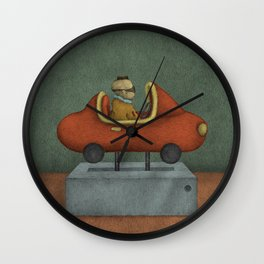 Road to Nowhere - Panel 2 Wall Clock
