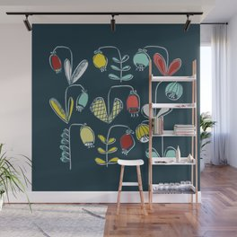 small thick berry flower Wall Mural