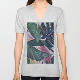 leaves in colours Unisex V-Neck